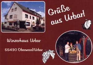 Grüße aus Urbar vom Winzerhaus Urbar