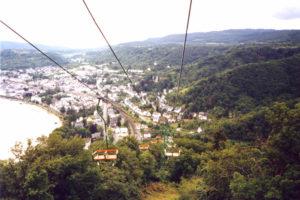 Blick von der Seilbahn auf Boppard am Rhein